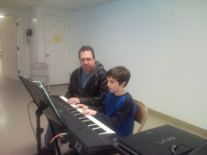 Pastor Bob teaching piano lessons Spring Hill TN
